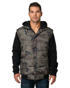 Burnside - Sleeved Puffer Vest - 8701