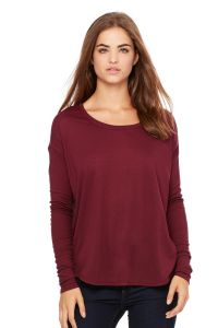 Bella+Canvas - Women's Flowy Long Sleeve Tee w/ 2x1 Sleeves - 8852